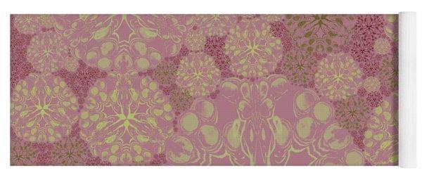 Blob Flower Painting #3 Pink Yoga Mat