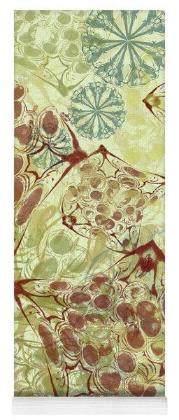 Blob Flower Painting #1 Pale Yellow Yoga Mat