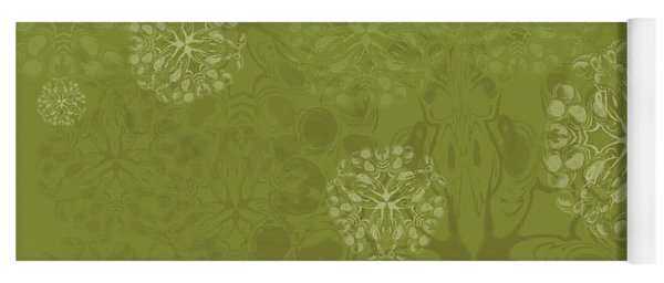 Blob Flower Painting #2 Yellow Green Yoga Mat