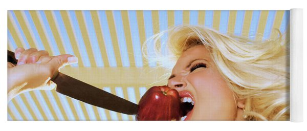 Blonde And Red Apple Yoga Mat