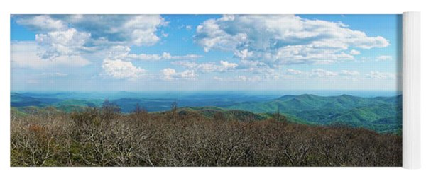 Blood Mountain Georgia Panorama Yoga Mat