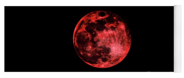 Blood Red Moonscape 3644b Yoga Mat