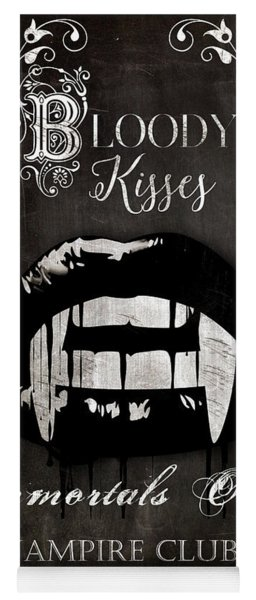 Bloody Kisses Vampire Sign Yoga Mat