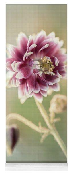 Blooming Columbine Flower Yoga Mat