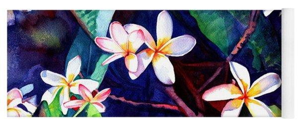 Blooming Plumeria Yoga Mat
