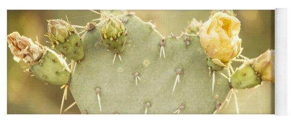 Blooming Prickly Pear Cactus Yoga Mat