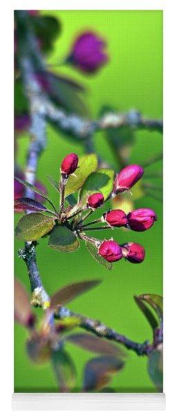 Blooming Spring Poetry Yoga Mat