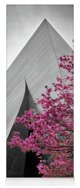 Blooming Tree Near Disney Hall Yoga Mat