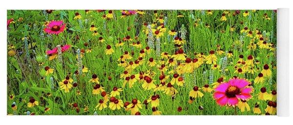 Blooming Wildflowers Yoga Mat