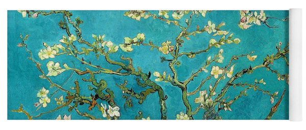 Yoga Mat featuring the painting Blossoming Almond Tree by Van Gogh