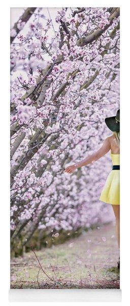 Blossoms Falling Like Snow Yoga Mat