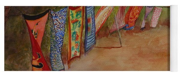 Yoga Mat featuring the painting Blowin' In The Wind by Ruth Kamenev