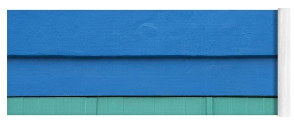 Blue Architectural Detail Yoga Mat