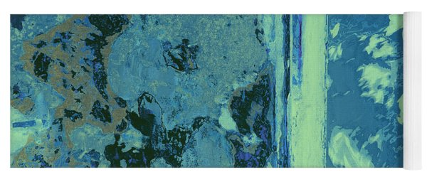 Blue Abstraction Yoga Mat