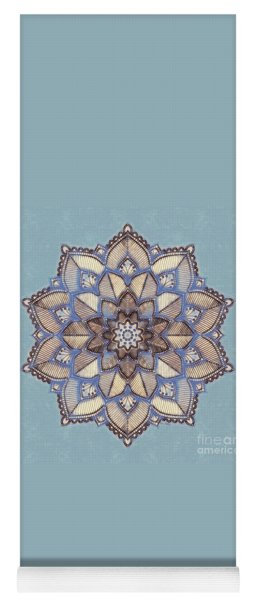 Blue And White Mandala Yoga Mat