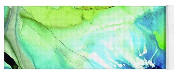 Blue And Green Abstract - Land And Sea - Sharon Cummings Yoga Mat