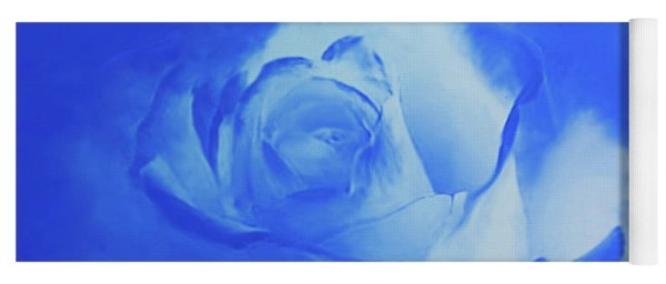 Blue And White Arising Yoga Mat