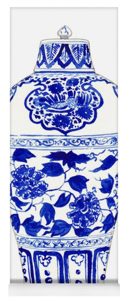 Blue And White Ginger Jar Chinoiserie Jar 1 Yoga Mat