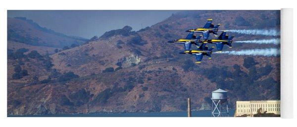 Blue Angels Over Alcatraz Yoga Mat