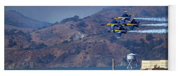 Blue Angels Over Alcatraz Yoga Mat
