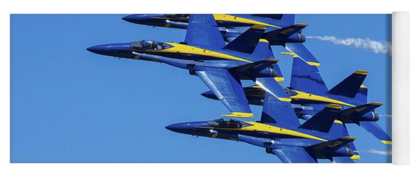 Blue Angels Very Close Formation 1 Yoga Mat