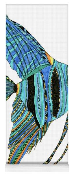 Blue Anglefish Yoga Mat