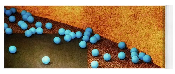 Blue Balls Yoga Mat