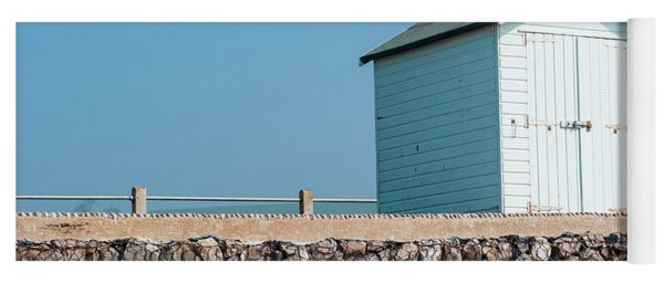 Blue Beach Hut Yoga Mat