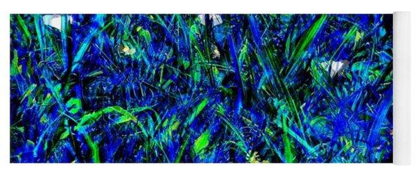 Blue Blades Of Grass Yoga Mat