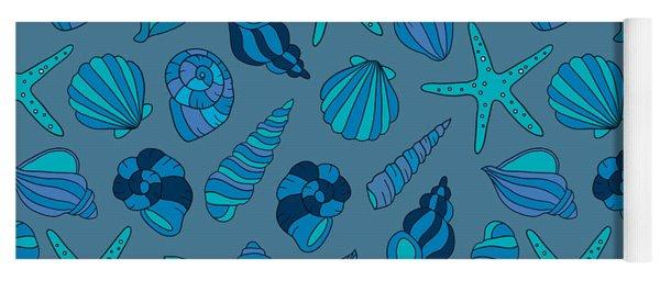 Blue Blue Summer  Yoga Mat
