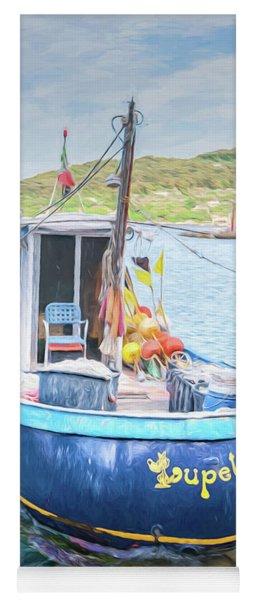 Blue Boat Yoga Mat