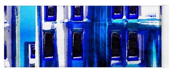 Blue Buildings Yoga Mat