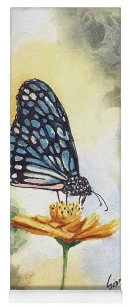 Blue Butterfly Yoga Mat