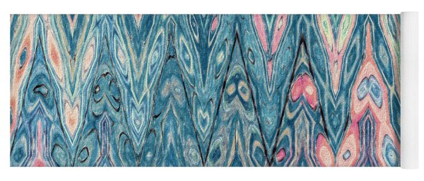 Blue By Pink 2 Yoga Mat