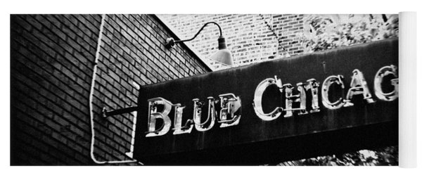 Blue Chicago Nightclub Yoga Mat