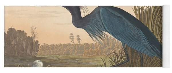 Blue Crane Or Heron Yoga Mat