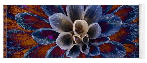 Blue Dahlia Yoga Mat
