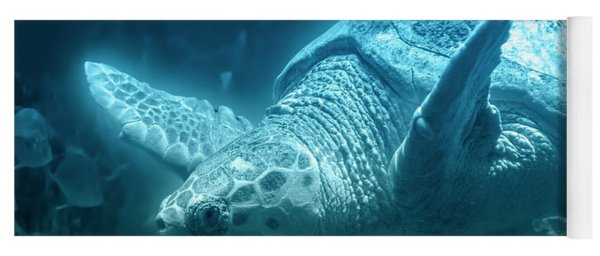 Blue Depths Sea Turtle Yoga Mat