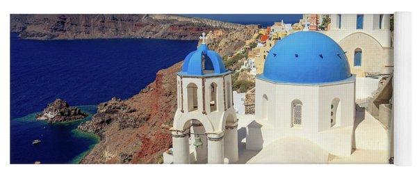 Blue Domed Churches Yoga Mat