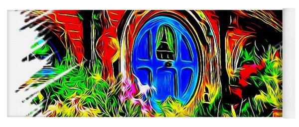 Blue Door Hobbit House-t Shirt Yoga Mat