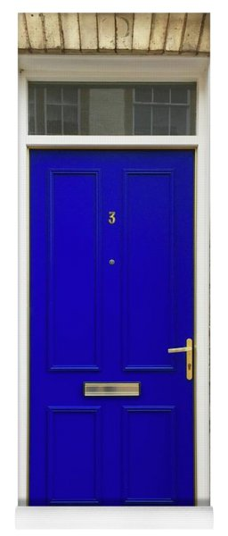 Blue Door Number 3 Yoga Mat