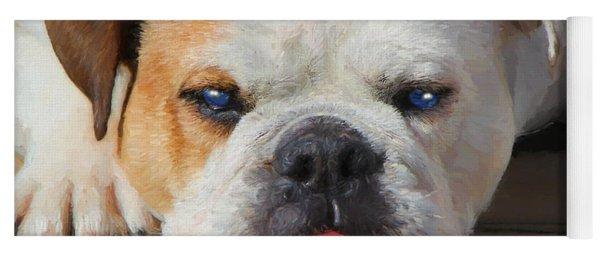 Blue-eyed English Bulldog - Painting Yoga Mat