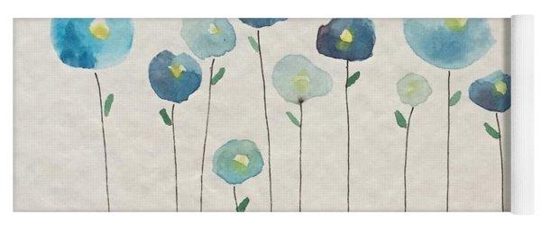 Blue Floral Yoga Mat