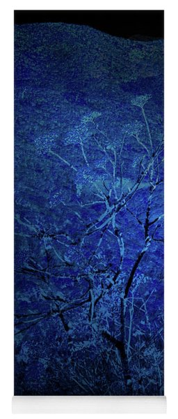 Blue Flowers Yoga Mat