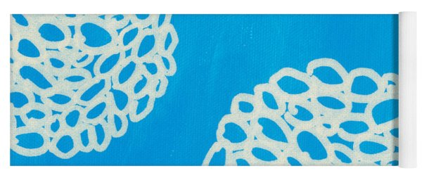Blue Garden Bloom Yoga Mat