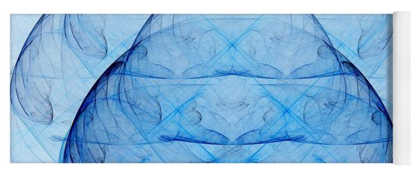 Blue Glass Yoga Mat