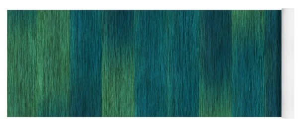 Blue Green Abstract 1 Yoga Mat