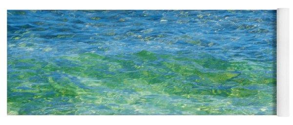 Blue Green Waves Yoga Mat