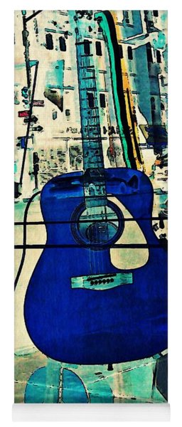 Blue Guitar Yoga Mat