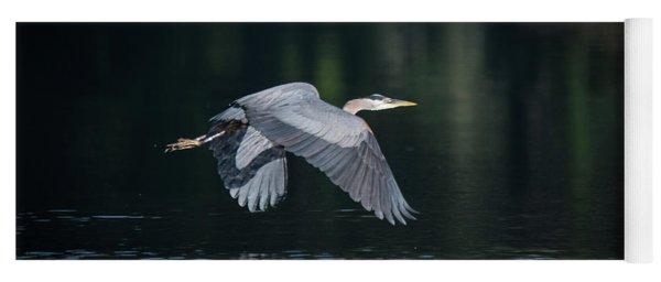 Blue Heron Flying Yoga Mat